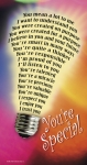 You're Special Poster - Large Light Bulb